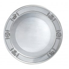 """ENGRAVABLE CHILDS PLATE 7.5"""" DIA Satin - 48-8BABY Bright - 48-8BABYB"""