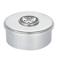 """GOLF MOTIF BOX / LID 3.5"""" DIA"""