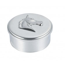 """HORSE HEAD BOX / LID 3.5"""" DIA"""