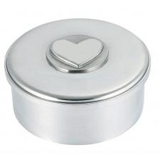 """HEART MOTIF BOX / LID 3.5"""" DIA"""