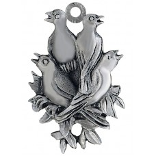 4 CALLING BIRDS SCULPTURED ORNAMENT