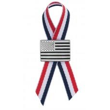 AMERICAN FLAG PIN LAPEL PIN / R-W-B RIBBON