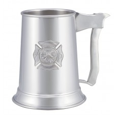 "FIRE AX-BADGE TANKARD 3"" DIA X 5"" 16 OZ"