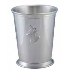 "JULEP CUP W/ FOX HEAD 3.25"" DIA X 4"" 10 oz"