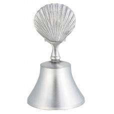 """SEA SHELL HANDLE BELL BELL 3.875"""" TALL"""