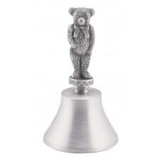 """TEDDY BEAR HANDLE BELL 4.125"""" TALL"""