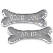 """GOOD DOG - BAD DOG"" PAPERWEIGHT 3.125"" LONG"