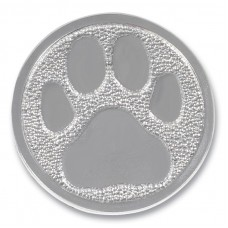 "PAW PRINT PAPERWEIGHT W/ CORK BACKING 3.125"" DIA"