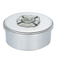 "FIRE DEPT BADGE BOX / LID 3.5"" DIA"