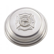 "FIRE DEPT PAPERWEIGHT W/ FELTED BOTTOM 3.5"" DIA x .875"""