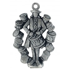 12 DRUMMERS DRUMMING SCULPTURED ORNAMENT