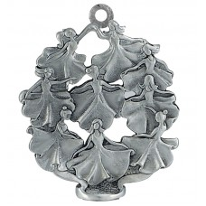 9 LADIES DANCING SCULPTURED ORNAMENT