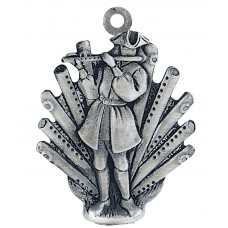 11 PIPERS PIPING SCULPTURED ORNAMENT