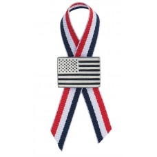 AMERICAN FLAG PIN LAPEL PIN / R-W-B RIBBON