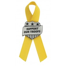 SUPPORT OUT TROOPS PIN LAPEL PIN / YELLOW RIBBON
